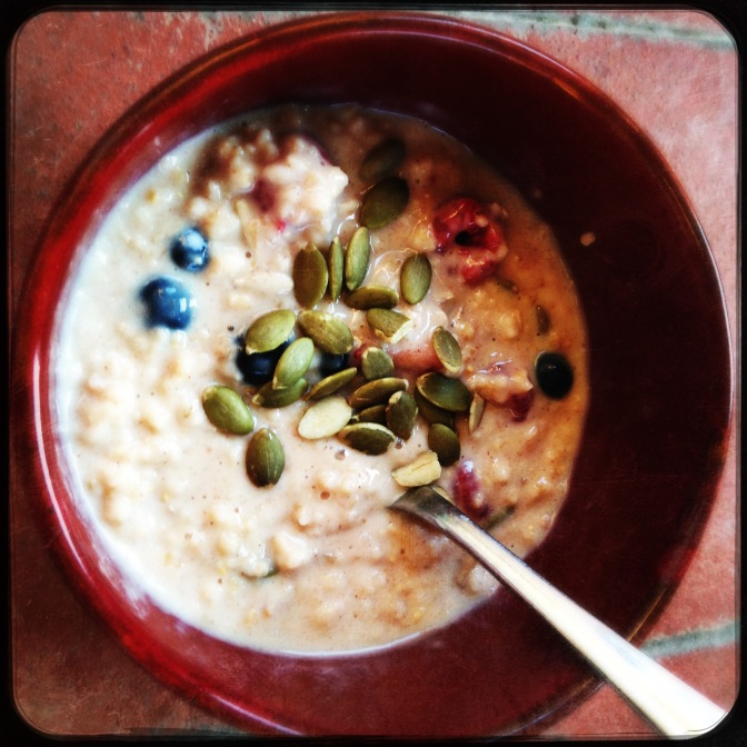 Back to school breakfast..porridge